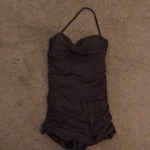 Brown one piece swimsuit worn once